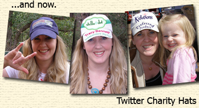 Twitter Charity Hats Now